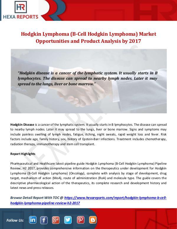 Hodgkin Lymphoma (B-Cell Hodgkin Lymphoma) Market
