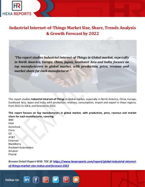 Hexa Reports Industry Industrial Internet-of-Things Market