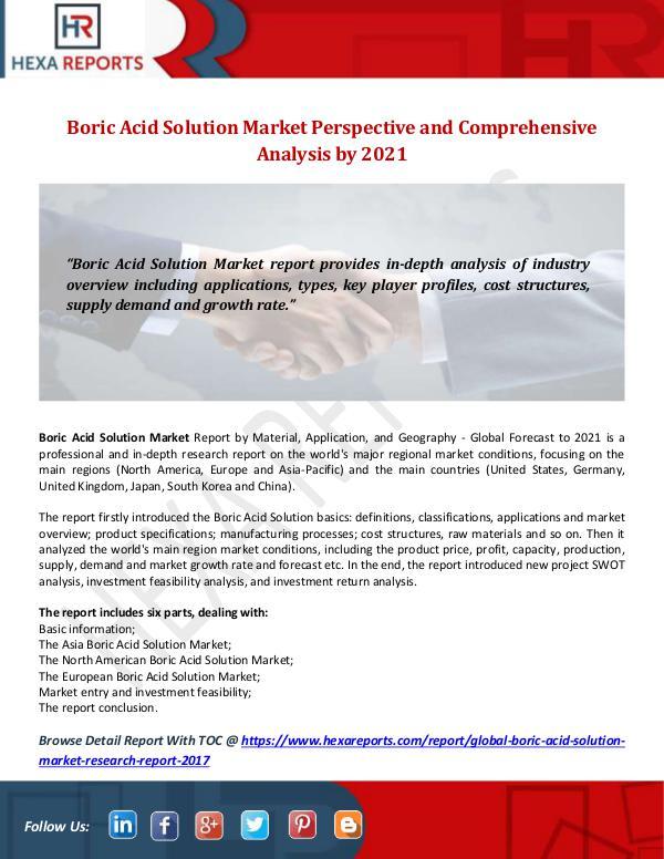 Boric Acid Solution Market