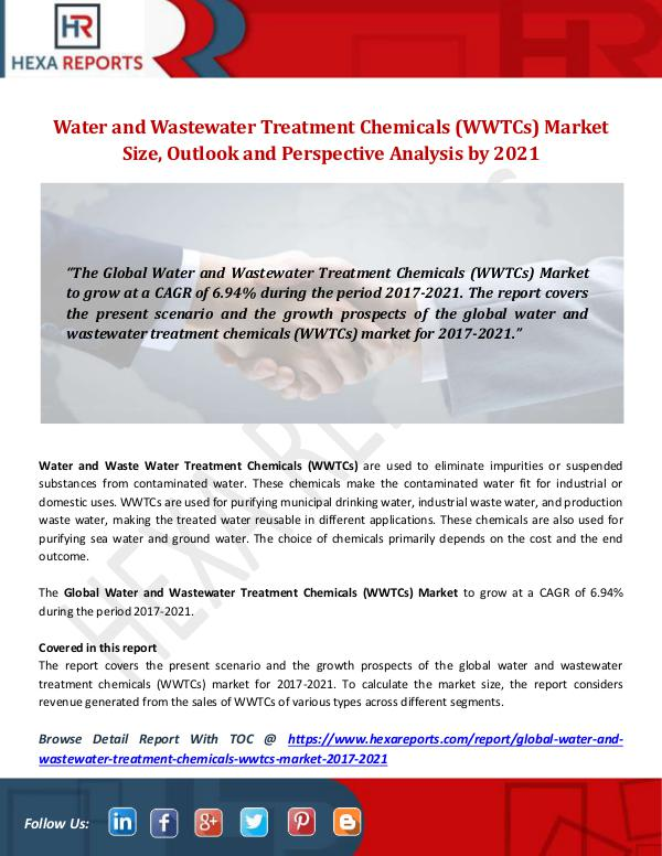 Water and Wastewater Treatment Chemicals (WWTCs)