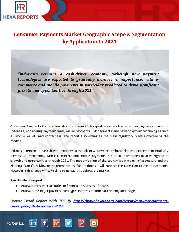 Consumer Payments Market