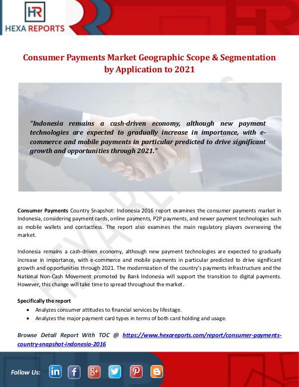 Hexa Reports Industry Consumer Payments Market