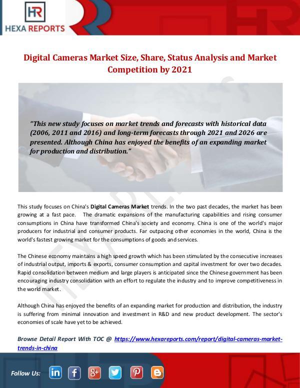 Hexa Reports Industry Digital Cameras Market