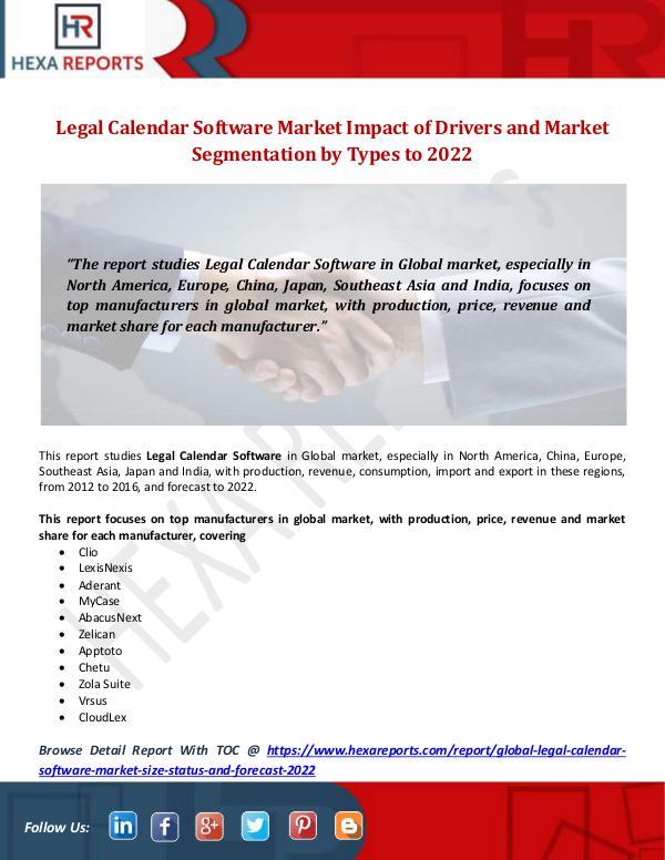 Legal Calendar Software Market