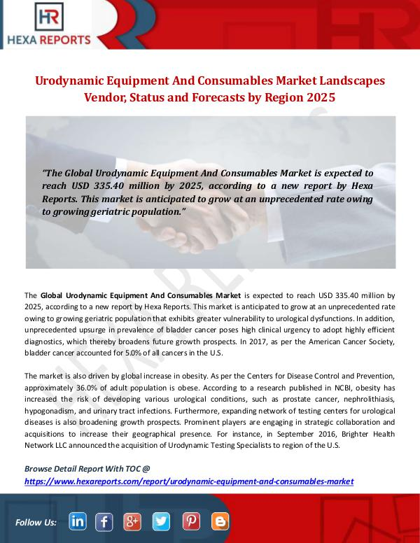 Urodynamic Equipment And Consumables Market