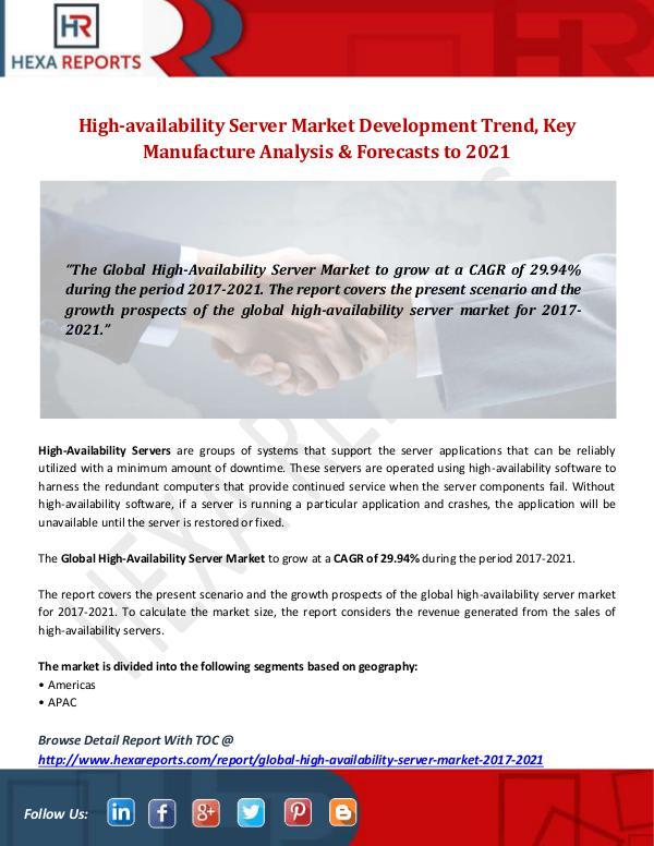 Hexa Reports Industry High-availability Server Market