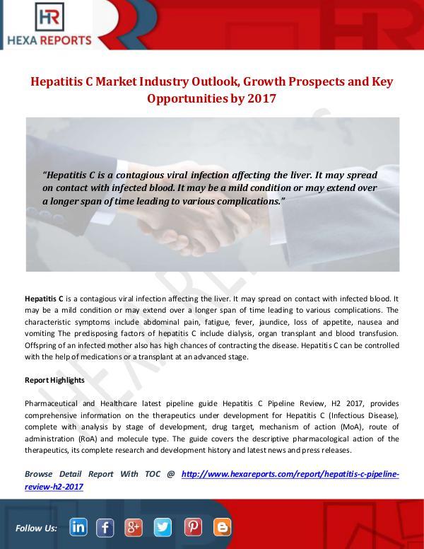 Hexa Reports Industry Hepatitis C Market