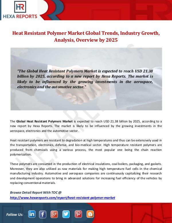 Hexa Reports Industry Heat Resistant Polymer Market