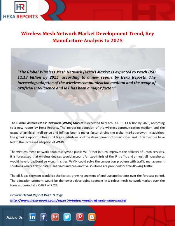 Wireless Mesh Network (WMN) Market