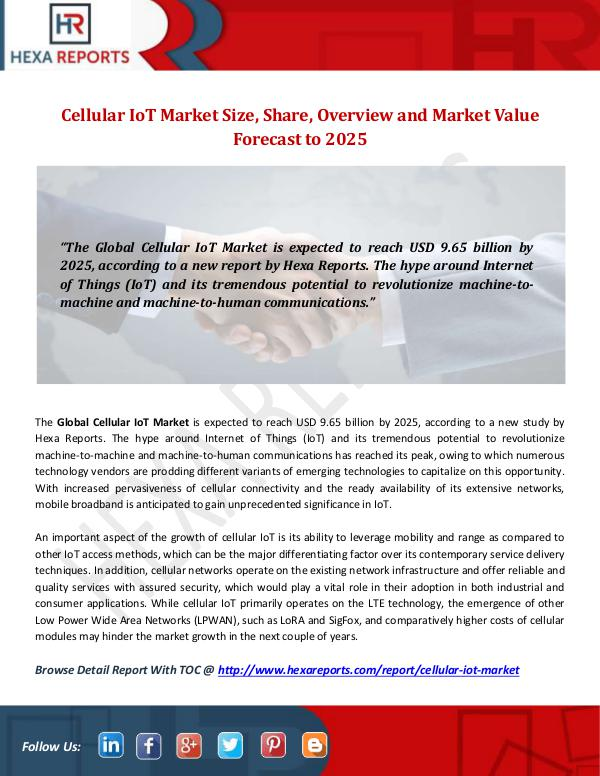 Cellular IoT Market
