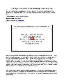 Navajo Medicine Man Remedy PDF