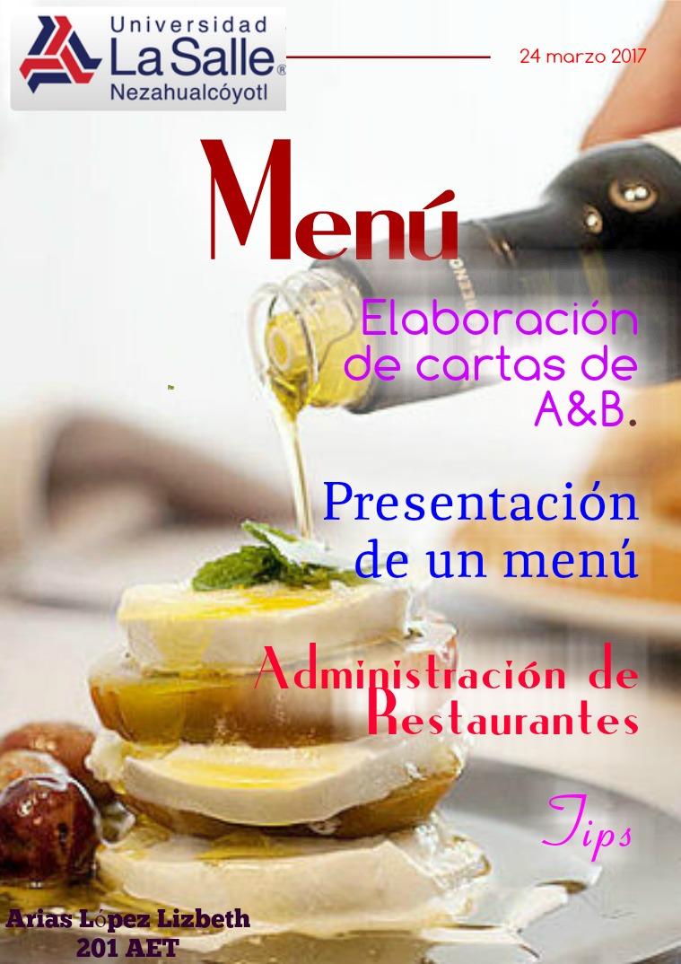Reglas de elaboración y presentación de cartas de alimentos y bebidas Reglas de elaboración y presentación de cartas de