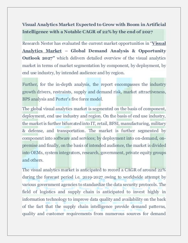 Visual Analytics Market Insights 2027