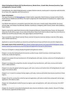 Global Cutting Boards Market 2017