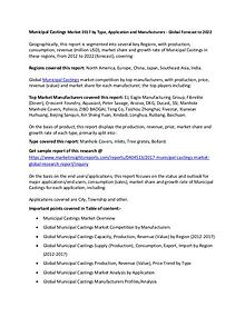 Municipal Castings Market 2017