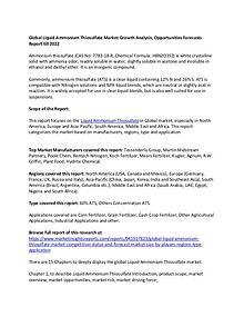 Global Liquid Ammonium Thiosulfate Market