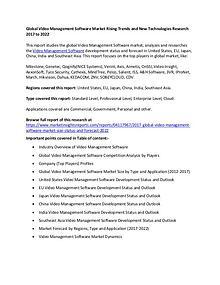 Global Video Management Software Market
