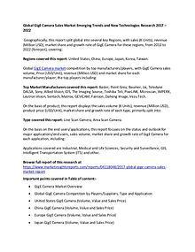 GigE Camera Sales Market