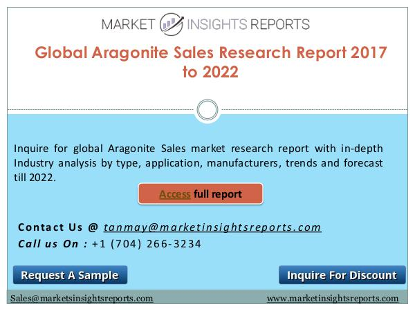 Aragonite Sales Market Competitive Analysis and Forecasts Till 2022