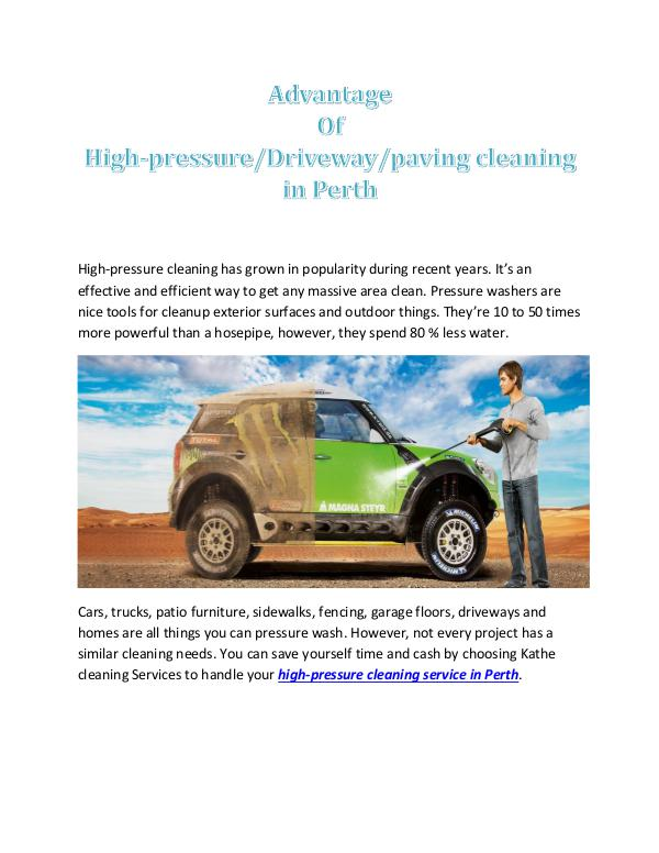 Advantage of High-Pressure/drive way/paving Cleaning in Perth Advantage Of High-Pressure Cleaning in Perth