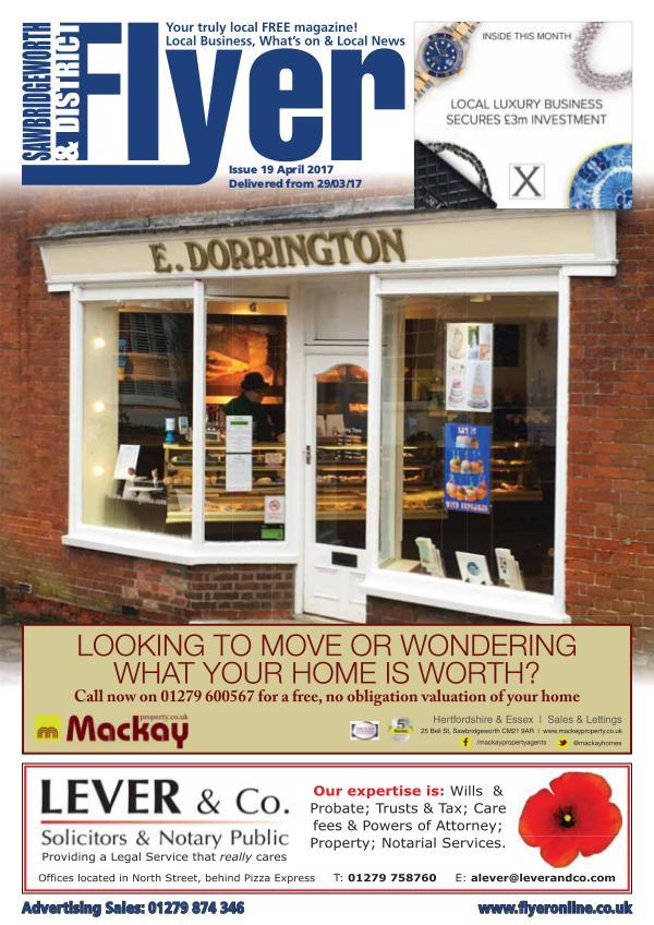 Sawbridgeworth Flyer Monthly Magazine Sawbridgeworth Flyer Monthly Magazine