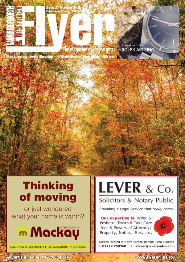 Sawbridgeworth Flyer Monthly Magazine Sawbridgeworth_Flyer_Oct2018_For_Web