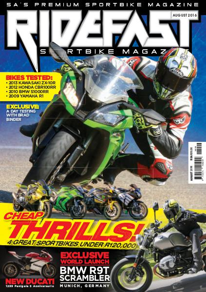 RideFast - MCSA - Motorcycling South Africa August 2016