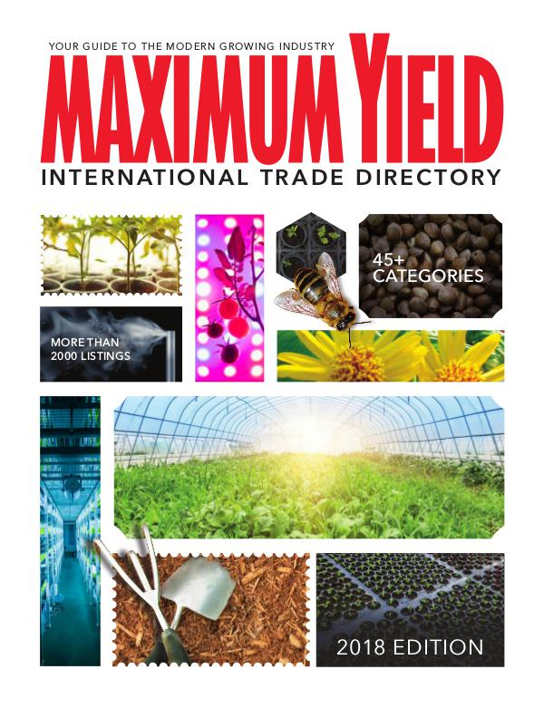 Maximum Yield's International Trade Directory 2018