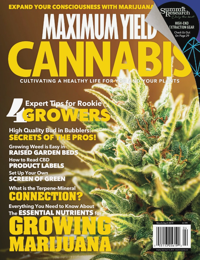 Maximum Yield Cannabis Canada March/April 2019