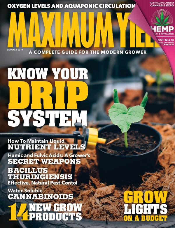 Maximum Yield Australia/New Zealand September/October 2019