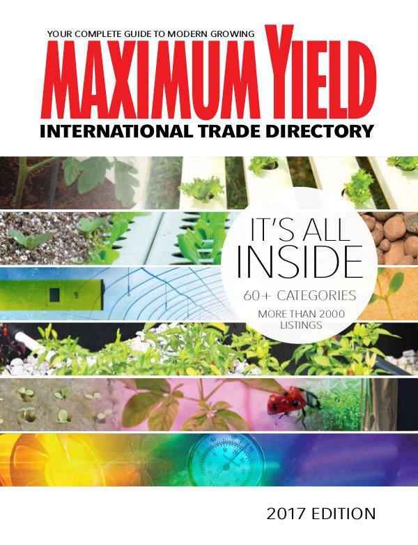 Maximum Yield's International Trade Directory 2017