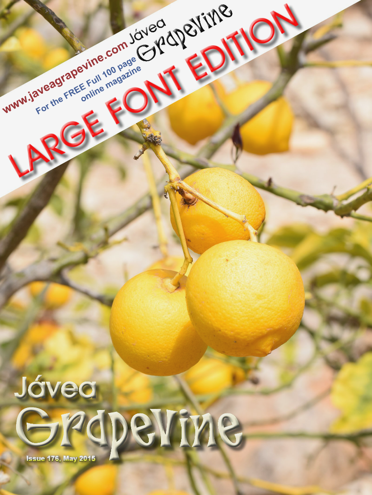 Javea Grapevine Issue 176  - LARGE FONT EDITION