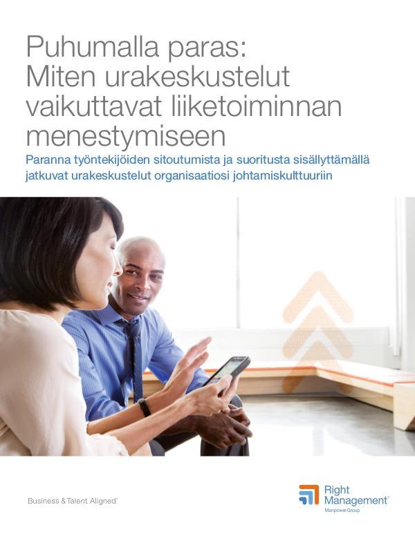 HR viesti - liitteet: Puhumalla paras: Miten urakeskustelut vaikuttav Puhumalla paras: Miten urakeskustelut vaikuttavat