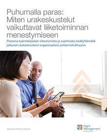 HR viesti - liitteet: Puhumalla paras: Miten urakeskustelut vaikuttav