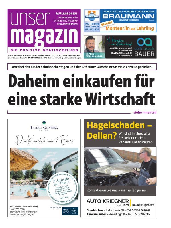 Unser Magazin KW 32 20