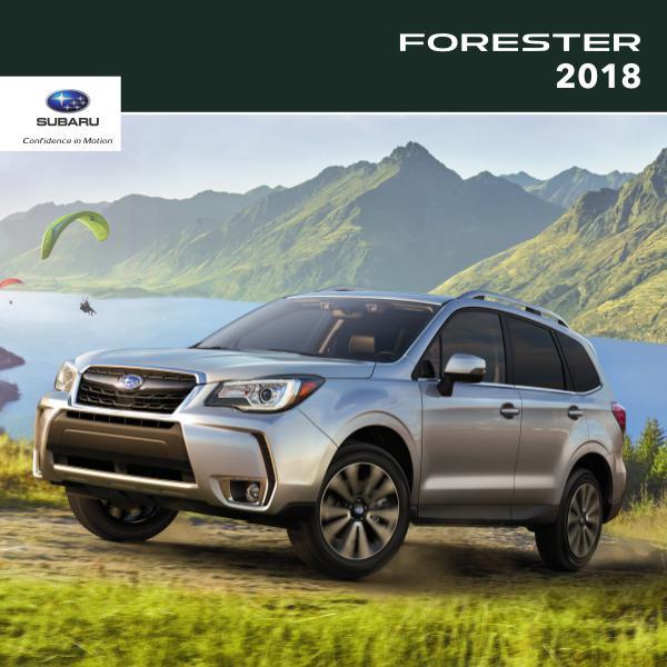 Subaru Forester Brochures 2018 Forester Brochure