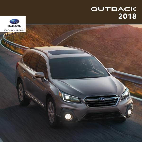 Brochures Subaru Outback Brochure Outback 2018