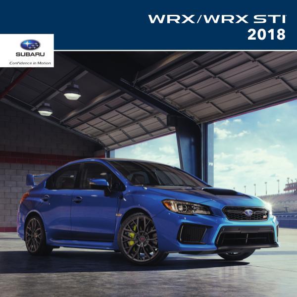 2018 WRX & WRX STI Brochure