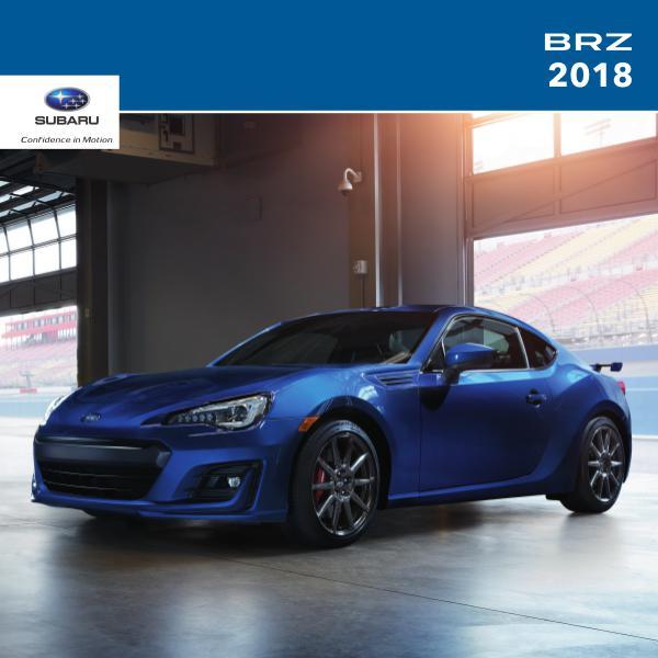 Subaru BRZ Brochures 2018 BRZ Brochure