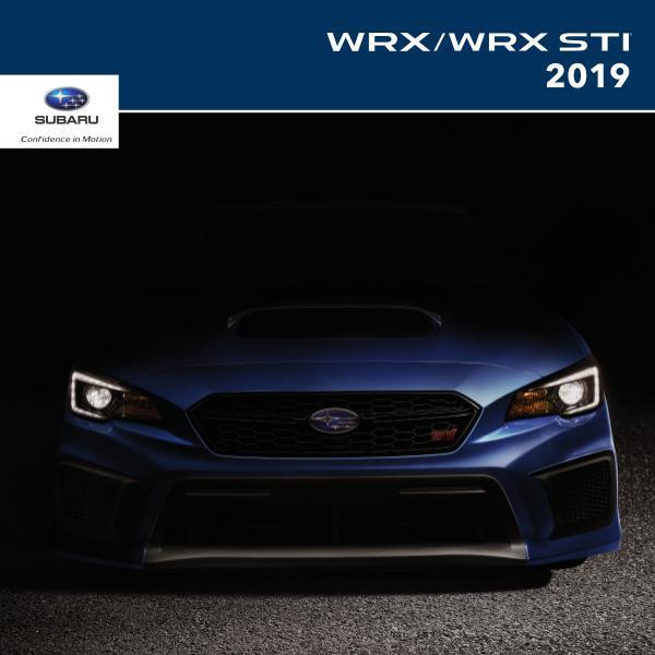 Subaru WRX & WRX STI Brochures 2019 WRX & WRX STI Brochure