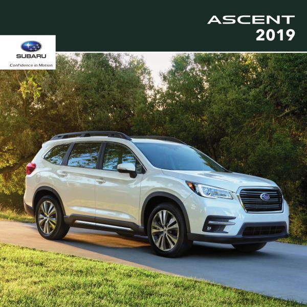 Subaru Ascent Brochures 2019 Ascent Brochure