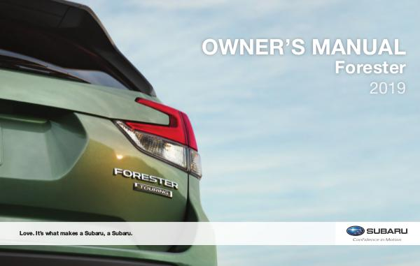Owner Resources - 2019 Forester - Frontier Subaru