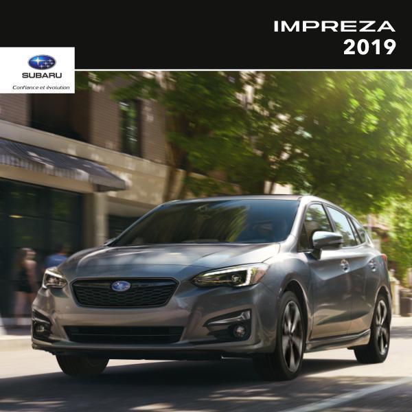 Brochures Subaru Impreza Brochure Impreza 2019
