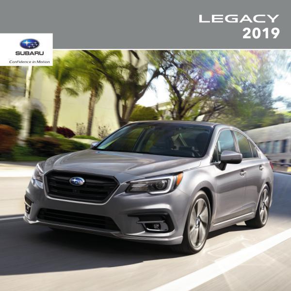 Subaru Legacy Brochures 2019 Legacy Brochure