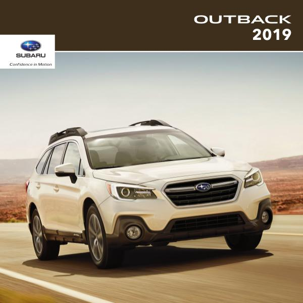 Subaru Outback Brochures 2019 Outback Brochure