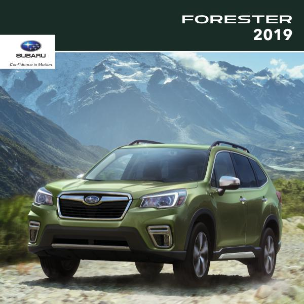 Subaru Forester Brochures 2019 Forester Brochure