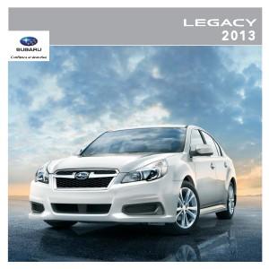 Brochures Subaru Legacy Brochure Legacy 2013