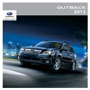 Brochures Subaru Outback Brochure Outback 2013
