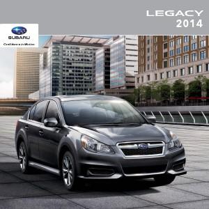 Subaru Legacy Brochures 2014 Legacy Brochure