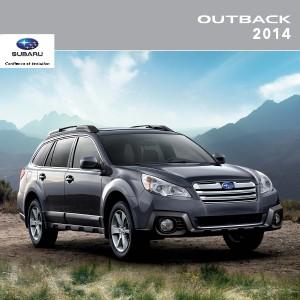 Brochures Subaru Outback Brochure Outback 2014